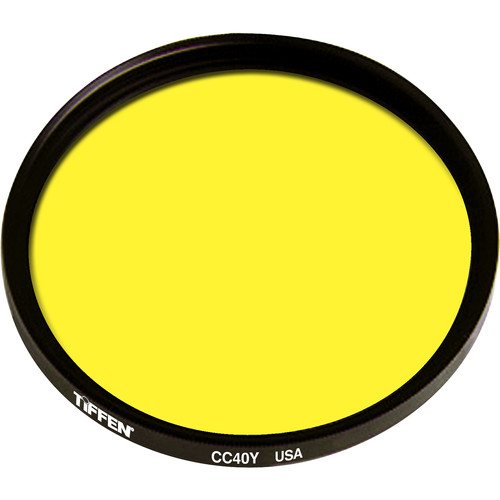 "Tiffen 4.5"" Round CC40Y Yellow Filter"
