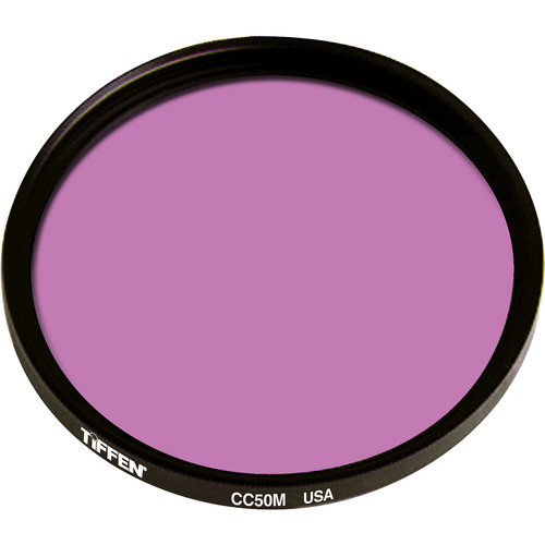 """Tiffen 4.5"""" Round CC50M Magenta Filter"""