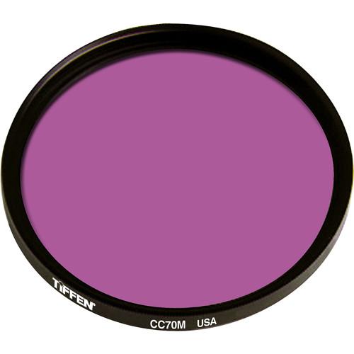 """Tiffen 4.5"""" Round CC70M Magenta Filter"""