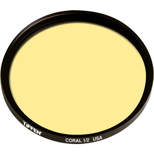 "Tiffen 4.5"" Round 1/2 Coral Solid Color Filter"