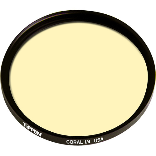 "Tiffen 4.5"" Round 1/4 Coral Solid Color Filter"