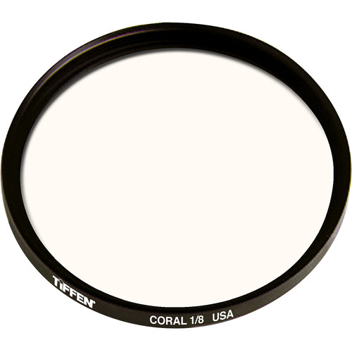 """Tiffen 4.5"""" Round 1/8 Coral Solid Color Filter"""