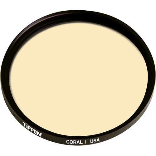 "Tiffen 4.5"" Round 1 Coral Solid Color Filter"