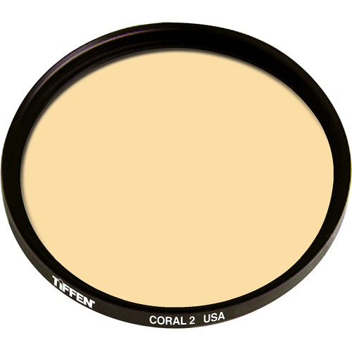 "Tiffen 4.5"" Round 2 Coral Solid Color Filter"