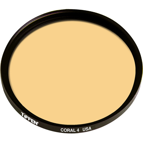 "Tiffen 4.5"" Round 4 Coral Solid Color Filter"