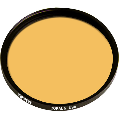 "Tiffen 4.5"" Round 5 Coral Solid Color Filter"