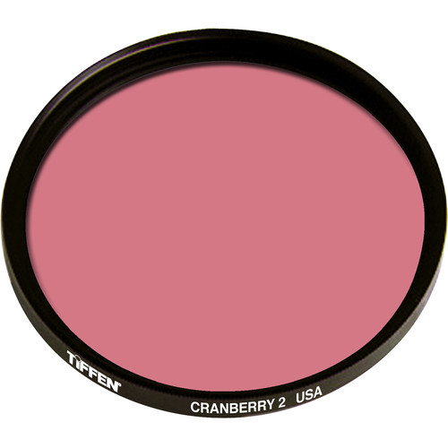 "Tiffen 4.5"" Round 2 Cranberry Solid Color Filter"