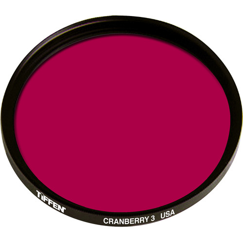 "Tiffen 4.5"" Round 3 Cranberry Solid Color Filter"
