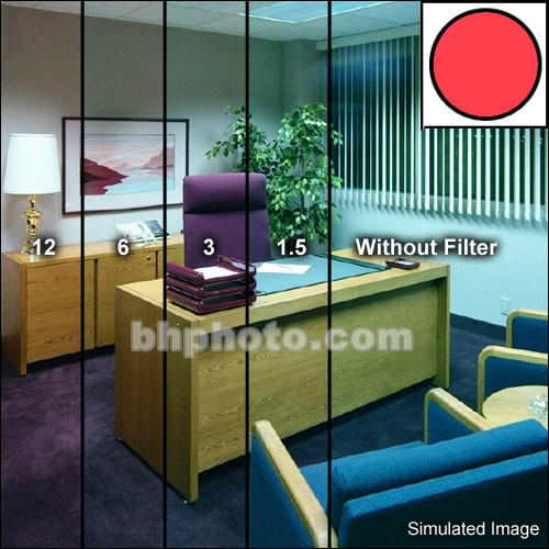 "Tiffen 4.5"" Decamired Red 6 (Warming) Glass Filter"