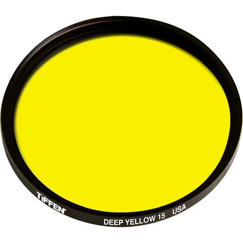 "Tiffen 4.5"" Deep Yellow #15 Glass Filter for Black & White Film"
