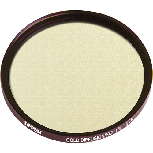 "Tiffen 4.5"" Round Gold Diffusion/FX 1/4 Filter"