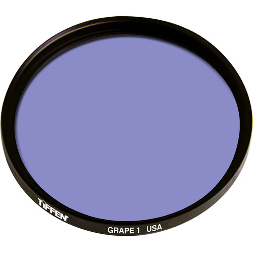 "Tiffen 4.5"" Round 1 Grape Solid Color Filter"