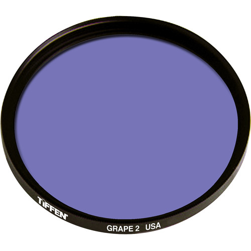 "Tiffen 4.5"" Round 2 Grape Solid Color Filter"