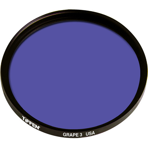 "Tiffen 4.5"" Round 3 Grape Solid Color Filter"