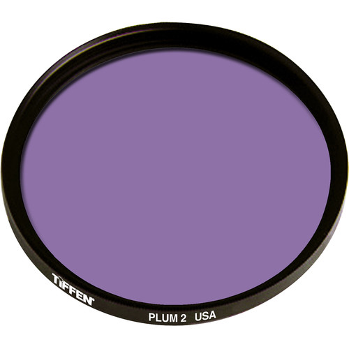 "Tiffen 4.5"" Round 2 Plum Solid Color Filter"