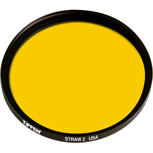 """Tiffen 4.5"""" Round 2 Straw Solid Color Filter"""