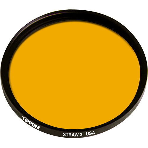 "Tiffen 4.5"" Round 3 Straw Solid Color Filter"