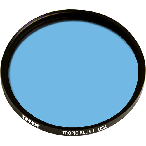 "Tiffen 4.5"" Round 1 Tropic Blue Solid Color Filter"