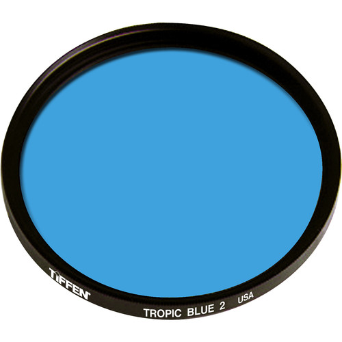 "Tiffen 4.5"" Round 2 Tropic Blue Solid Color Filter"