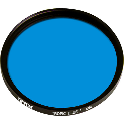 "Tiffen 4.5"" Round 3 Tropic Blue Solid Color Filter"