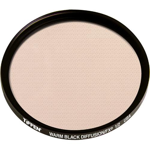 """Tiffen 4.5"""" Round Warm Black Diffusion/FX 1/2 Filter"""