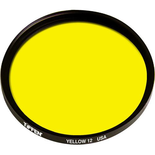 """Tiffen #12 Yellow Filter (4.5"""", Non-Threaded)"""