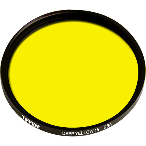 Tiffen 43mm Deep Yellow #15 Glass Filter for Black & White Film