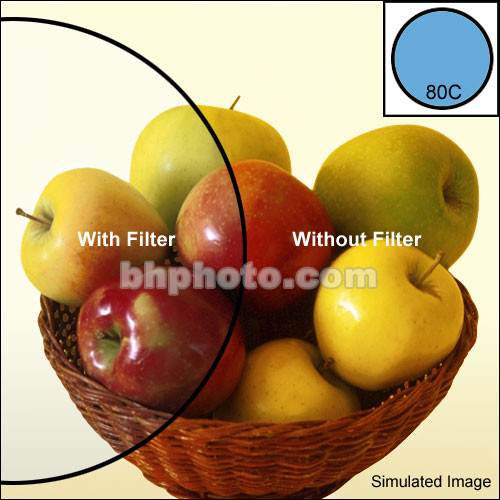 """Tiffen 4 x 4"""" 80C Color Conversion Filter"""