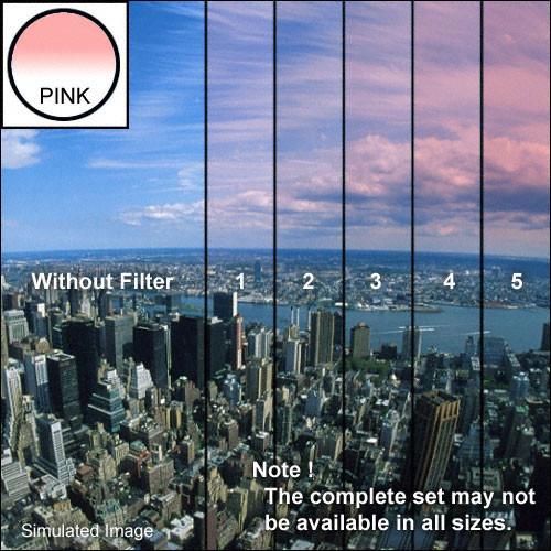 "Tiffen 4 x 4"" 1 Pink Soft-Edge Graduated Filter"