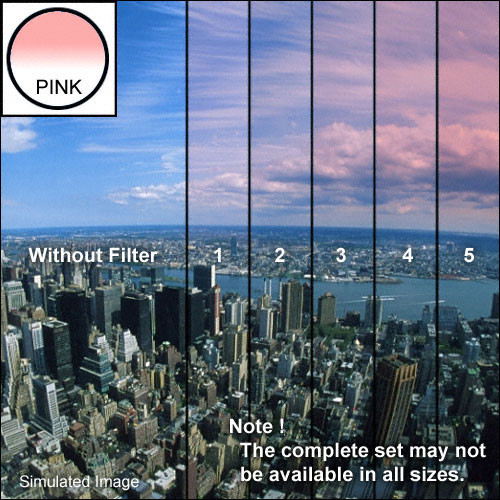 "Tiffen 4 x 4"" 3 Pink Soft-Edge Graduated Filter"