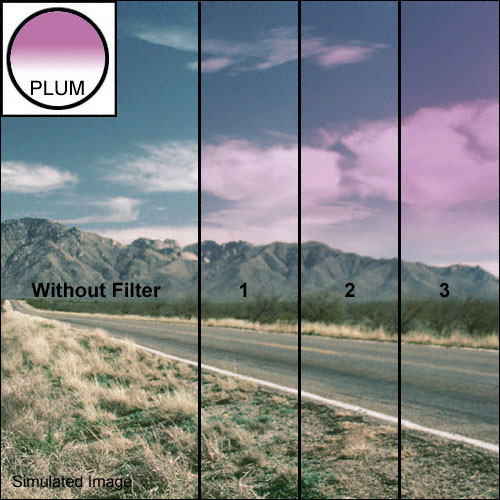 "Tiffen 4 x 4"" 1 Plum Soft-Edge Graduated Filter"