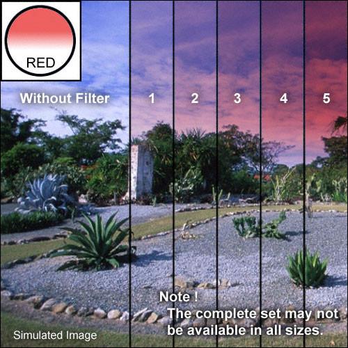 "Tiffen 4 x 4"" 5 Red Soft-Edge Graduated Filter"