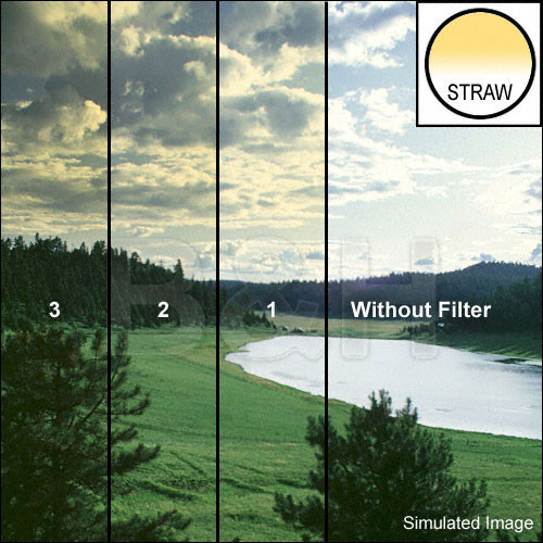 "Tiffen 4 x 4"" 2 Straw Soft-Edge Graduated Filter"