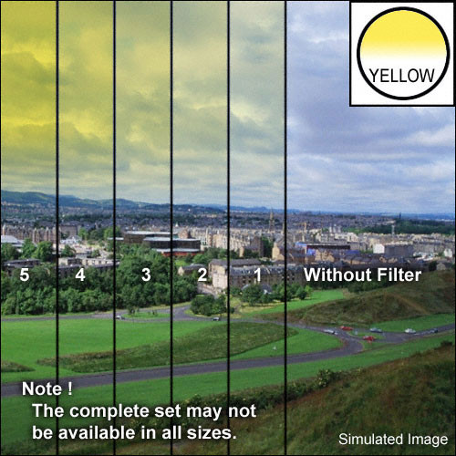 "Tiffen 4 x 4"" 1 Yellow Soft-Edge Graduated Filter"