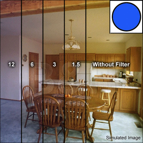 """Tiffen 4x4"""" Deca Mired Set of 4 Blue Color Conversion Glass Filters"""