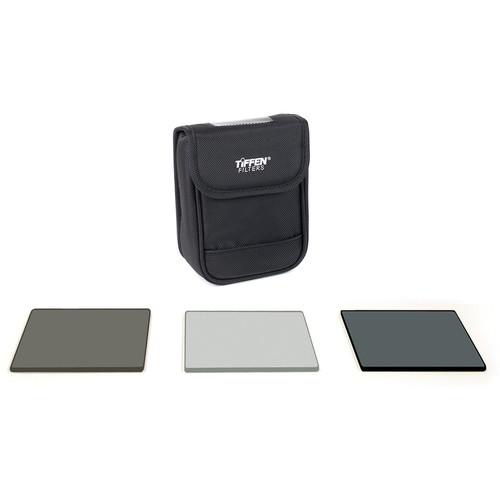 "Tiffen 4 x 4""  (4mm thick) DV Select Filter Kit 3 - Neutral Density 0.6, Ultra Circular Polarizing and Black ProMist 1/4 Filters"