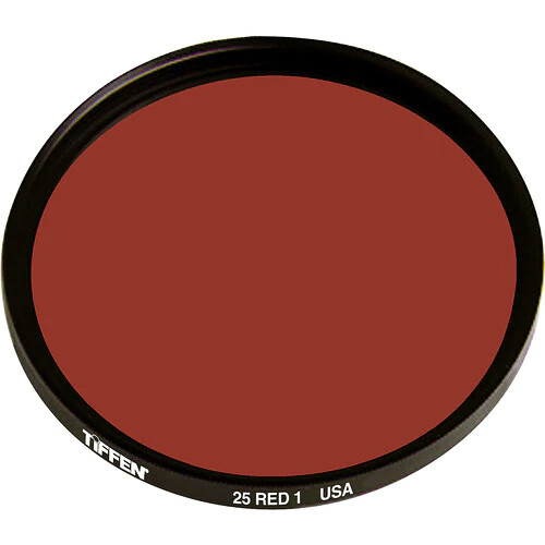 "Tiffen 4x4"" Red 1 #25 Glass Filter for Black & White Film"