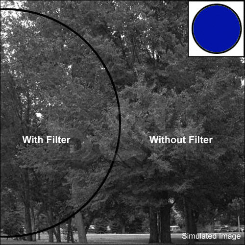 "Tiffen 4x5.65"" Blue #47B Glass Filter for Black & White Film"