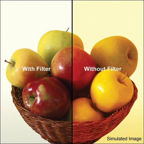 "Tiffen 4 x 5.65"" 80A Color Conversion Filter"