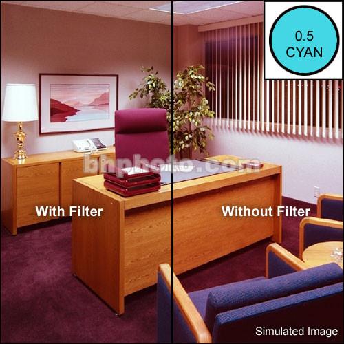 "Tiffen 4 x 5.65"" CC05C Cyan Filter"