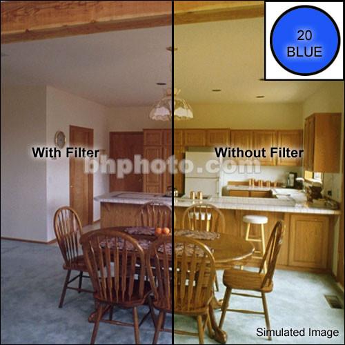 """Tiffen 4 x 5.65"""" CC20B Blue Filter"""