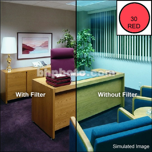 "Tiffen 4 x 5.65"" CC30R Red Filter"