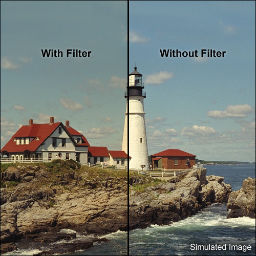 "Tiffen 4 x 5.65"" 2 Coral Solid Color Filter"