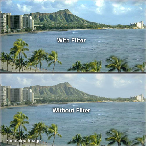 "Tiffen 4 x 5.65"" UV Haze 1 Filter"