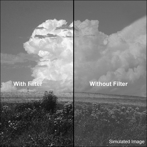 "Tiffen 4x5.65"" Orange #16 Glass Filter for Black & White Film"