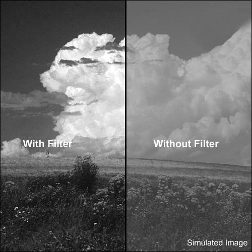 "Tiffen 4x5.65"" Red 1 #25 Glass Filter for Black & White Film"