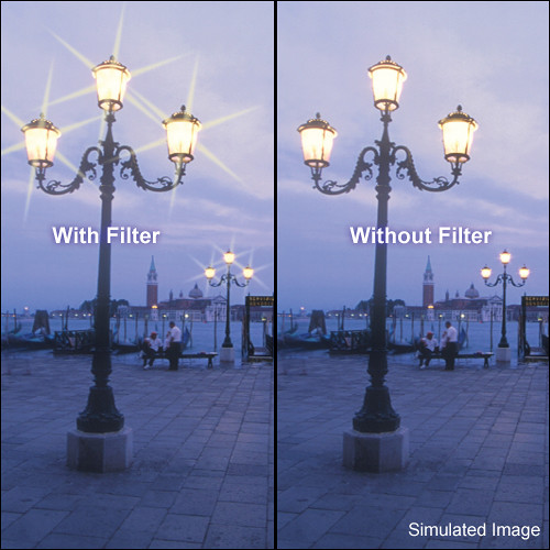 "Tiffen 4 x 5.65"" 6 Point/3mm Grid Star Effect Glass Filter"