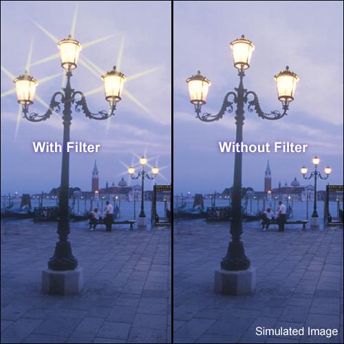 "Tiffen 4 x 5.65"" 6 Point/4mm Grid Star Effect Glass Filter"
