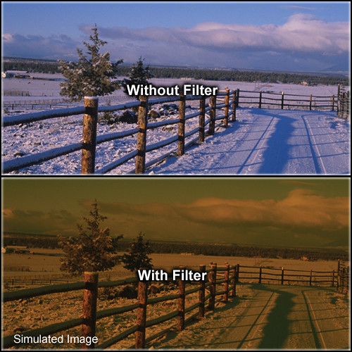 "Tiffen 4 x 5.65"" 3 Tobacco Solid Color Filter"