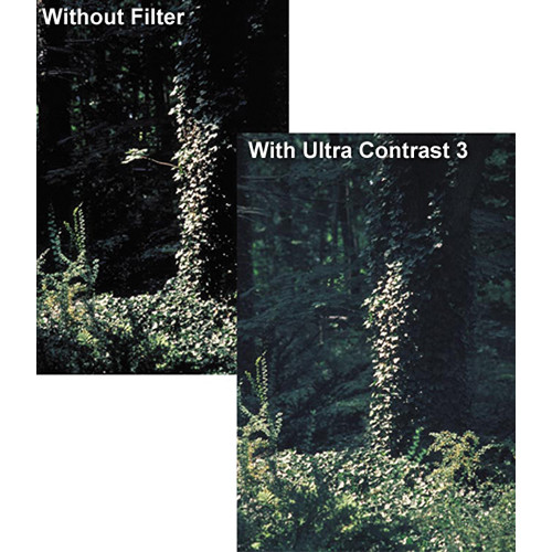 "Tiffen 4 x 5.65"" Ultra Contrast 1/2 Filter"